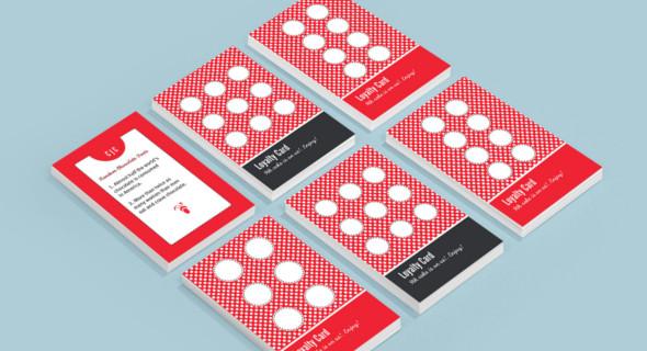 pinafore loyalty card design